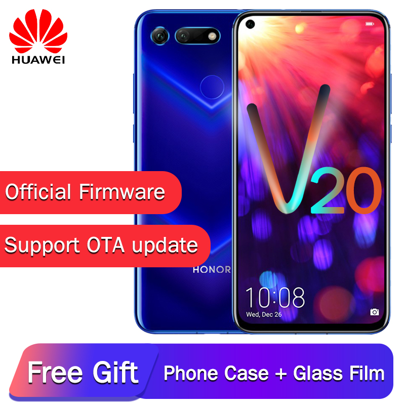 Original Huawei Honor View 20 NFC Mobile Phone honor V20 Liquid Cooling Kirin 980 Android 9