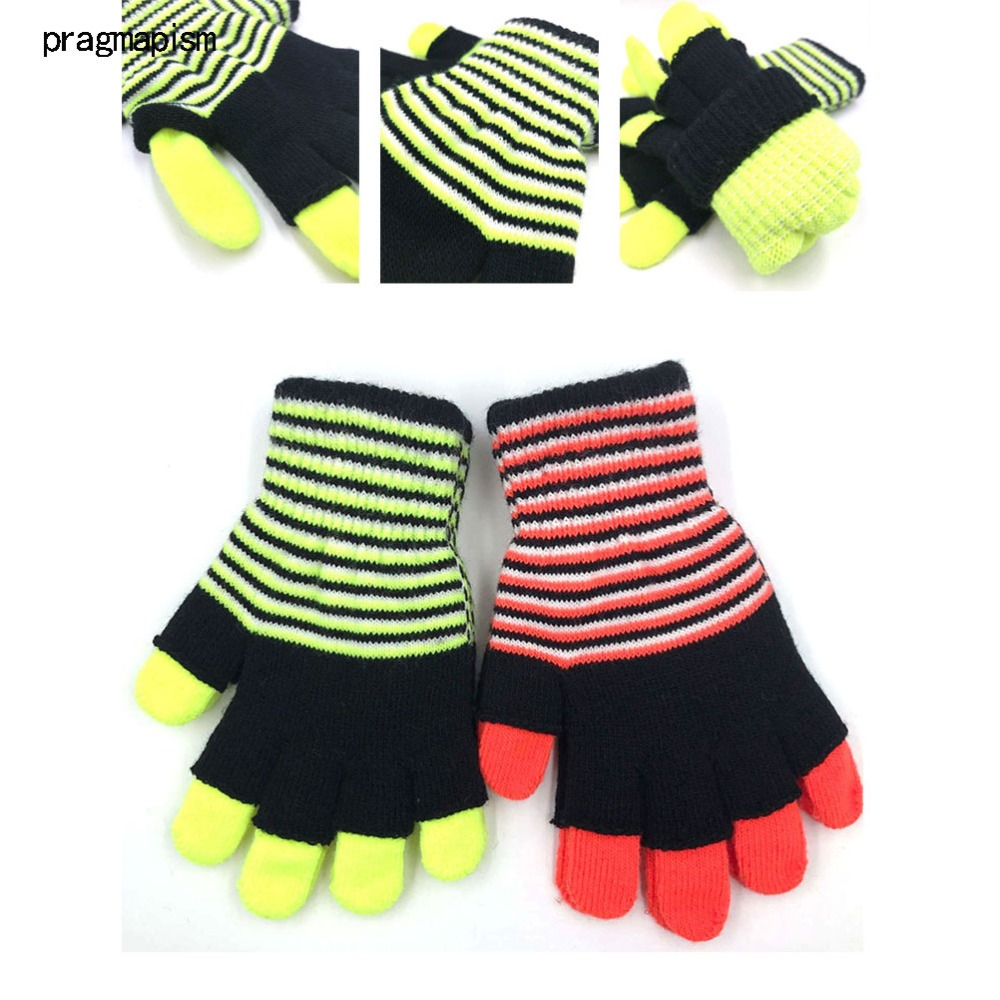 New Style False Two Pairs Magic Thick Ware Fashion Man Woman Knitted Gloves