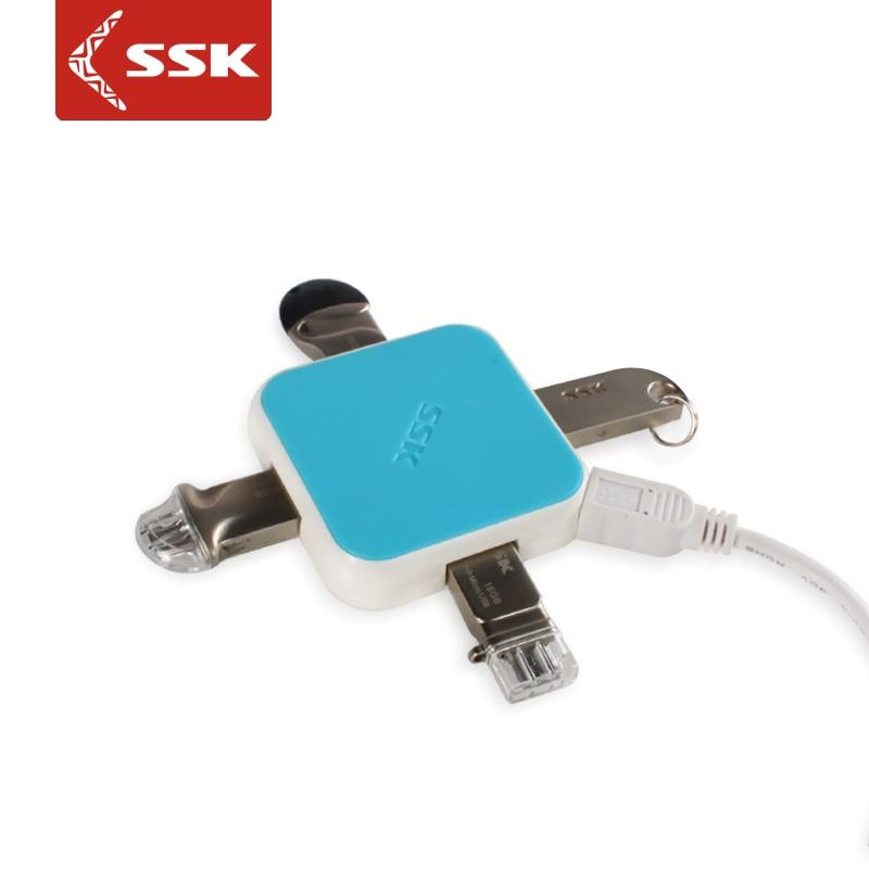 SSK hetsäljande färgglada utökade 480Mbps USB2.0 Hub med 4 - Datortillbehör - Foto 1