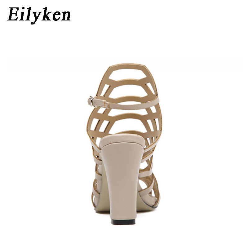 zapatos hueco vestido Eilyken estilo 40 tacones bombas en 10 sandalias europeo de tamaño verano de estilete mujeres sandalias romano altos cuadrados cm 35 q8wp7vq