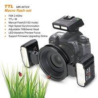 Майке MK MT24 Macro Twin Lite 5500 К вспышки для Nikon D7100 D7200 цифровых зеркальных камер