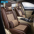 Fashion Leather Car Interior Car Seat Cushion Complete Set for 2pc front seat cover and rear seat covers Fit 95% 4-5 seats cars