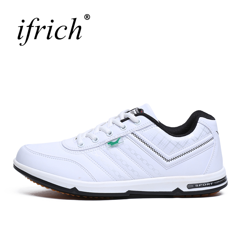 2016 Spring Autumn Men Sneakers Men Trainers Sneakers Black/White Running Shoes Leather Sport Sneakers Athletic Jogging Shoes