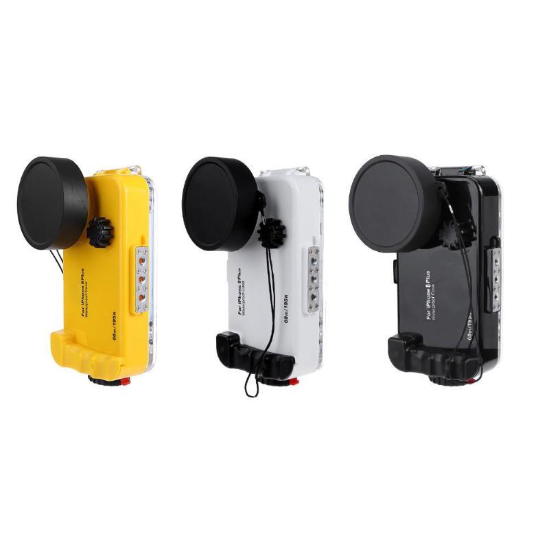 ALLOET sous-marin 60 m/195FT plongée anti-déflagrant étui pour iphone 8 Plus IPX8 étanche téléphone caméra lentille étuis pour i8P