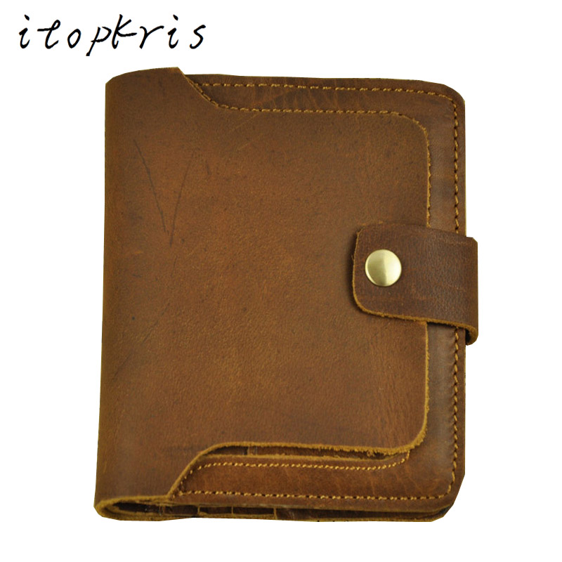 Itopkris Men Genuine Leather Wallet Retro Cowhide Handmade Wallet Short Male Business Wallet With Card Holder Coins Purse Wallet frank buytendijk dealing with dilemmas where business analytics fall short