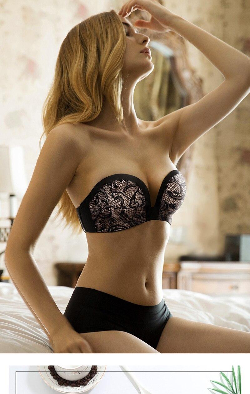 strapless bra for wedding dresses push up bra for women wireless ... eefb481db