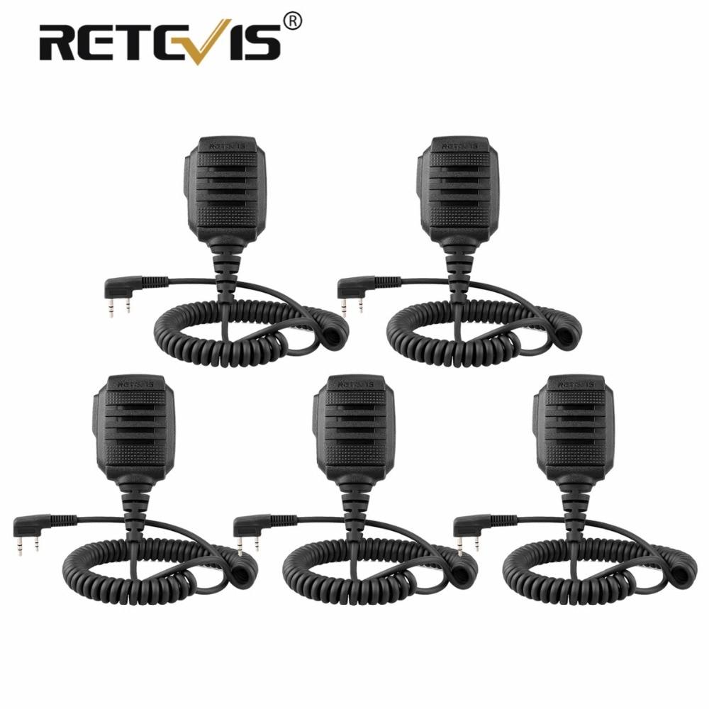 5 pz Nuovo Retevis RS-114 IP54 Impermeabile Altoparlante Microfono Per Retevis H777 RT3 RT27 RT22 RT81 RT80 Per Baofeng Ham radio Microfono
