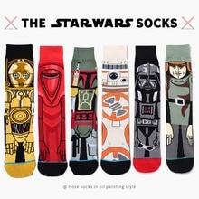 New Fashion Star Wars Cartoon Jacquard Men Autumn Winter Character Men Crew Socks Cotton Novel Skateboard Tube Socks Men Women