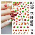 Новый Дизайн Переброски вод Ногтей Наклейки Сексуальная Красочные Maple Leaf Обертывания Наклейки Для Ногтей Советы Manicura поставки ногтей Этикета