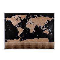 ZOOYOO Yaratıcı Scratch Kapalı Katmanlı Görsel Seyahat Dergisi ile Seyahat Scratch Harita Dünya Haritası Poster için Eğitim Ev Dekor L50