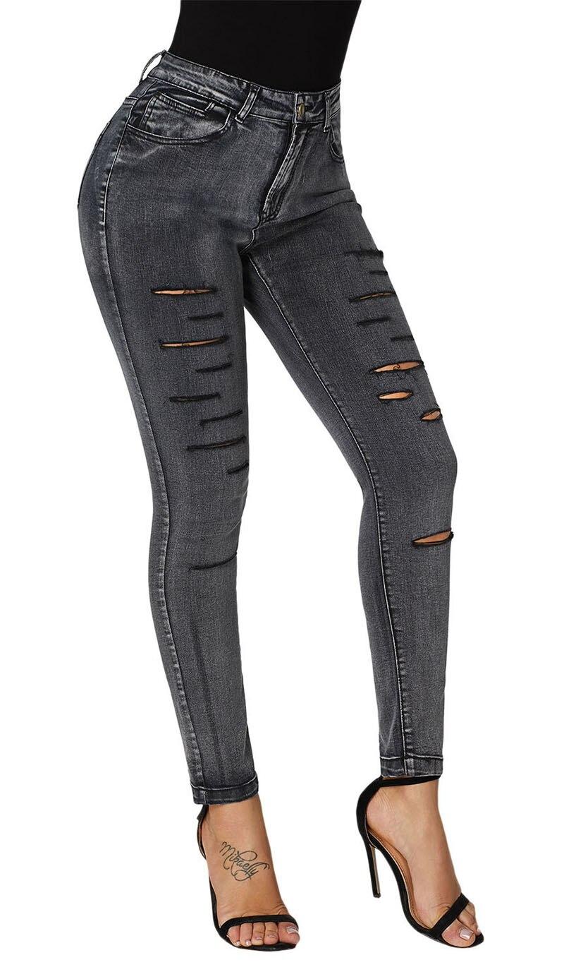 Black-Faded-Denim-Wash-Leg-Ripped-Skinny-Jeans-LC786018-2-3