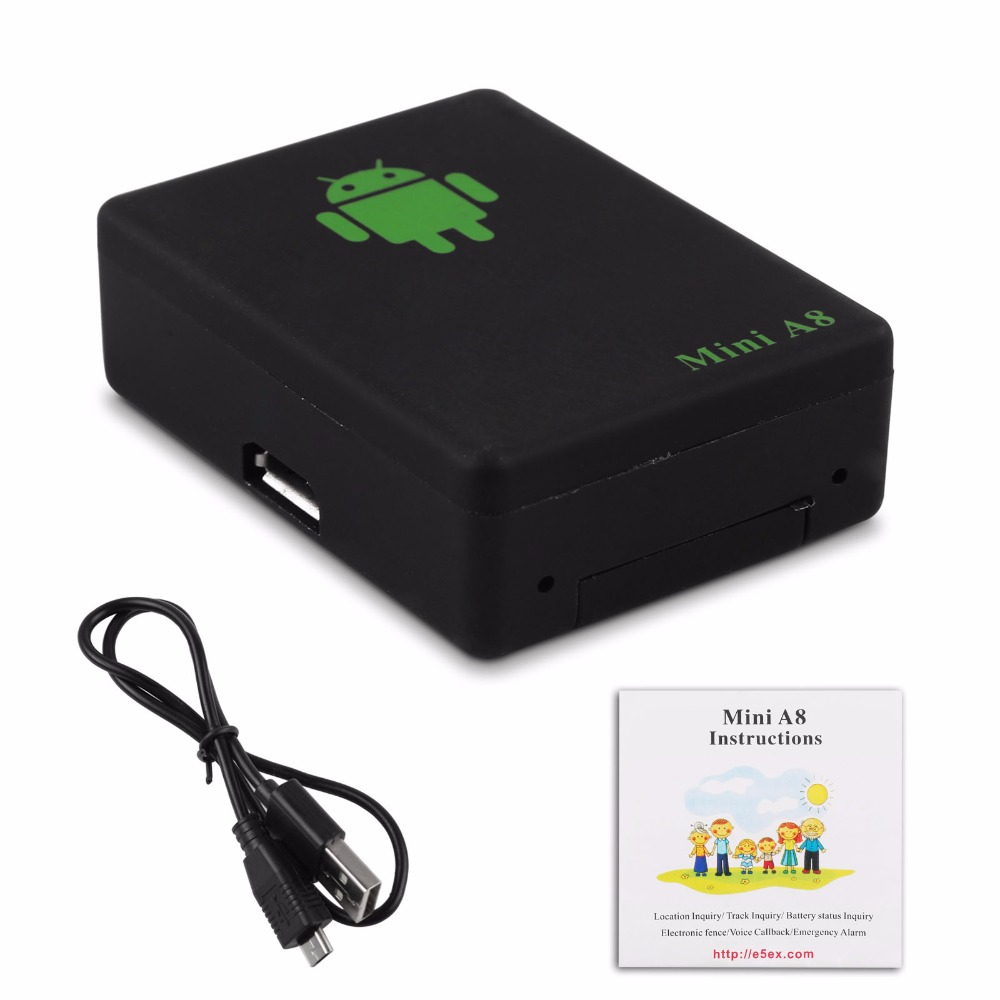 1pcs lbs tracker mini a8 tracker global real time gsm security auto tracking device with sos