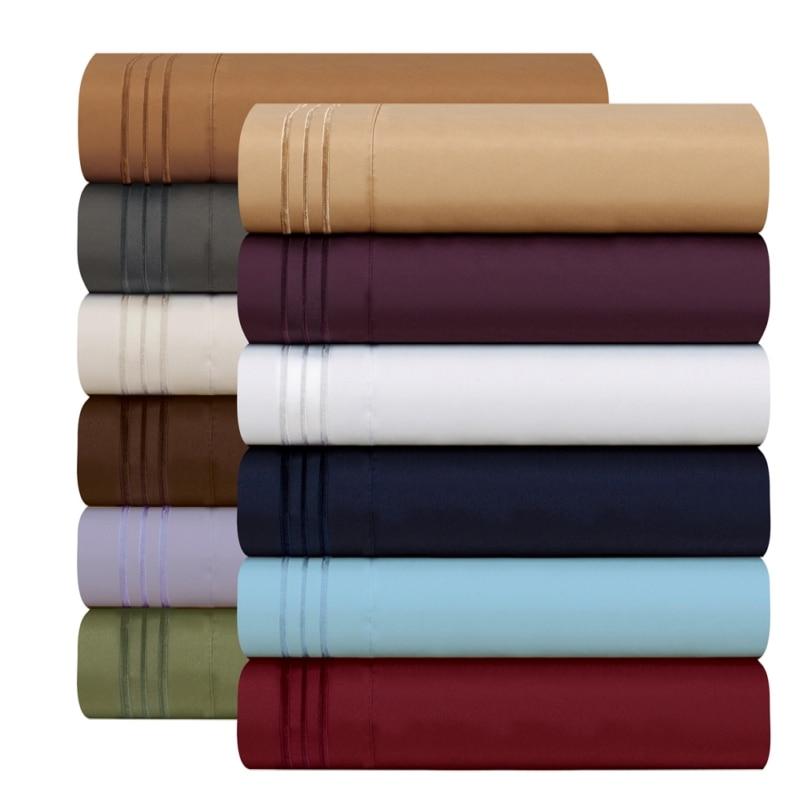 Bedding Sets Official Website Bedding Set Fitted Sheet Flat Sheet Pillowcase 3/4pcs Us Size Egyptian Comfort 1800 Count 4 Piece Deep Pocket Bed Sheet Set 2019 Latest Style Online Sale 50% Bedding