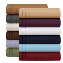 Bedding Set Fitted sheet Flat sheet Pillowcase 3/4pcs US Size Egyptian Comfort 1800 Count 4 Piece Deep Pocket Bed Sheet Set