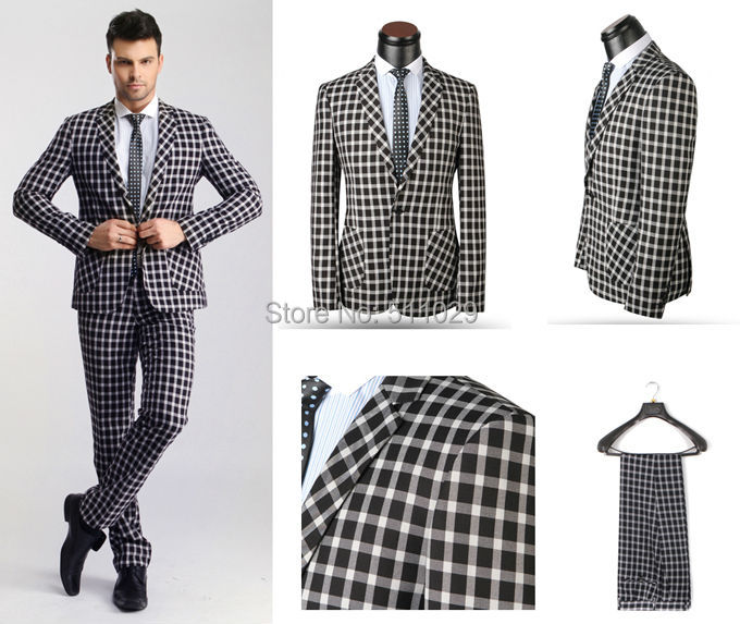 Free shipping 2 pieces MBS 158 latest suit styles for men men suit ...