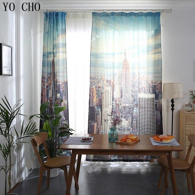 YO CHO ready made tende Empire State Building 3d cortinas casa deco ...