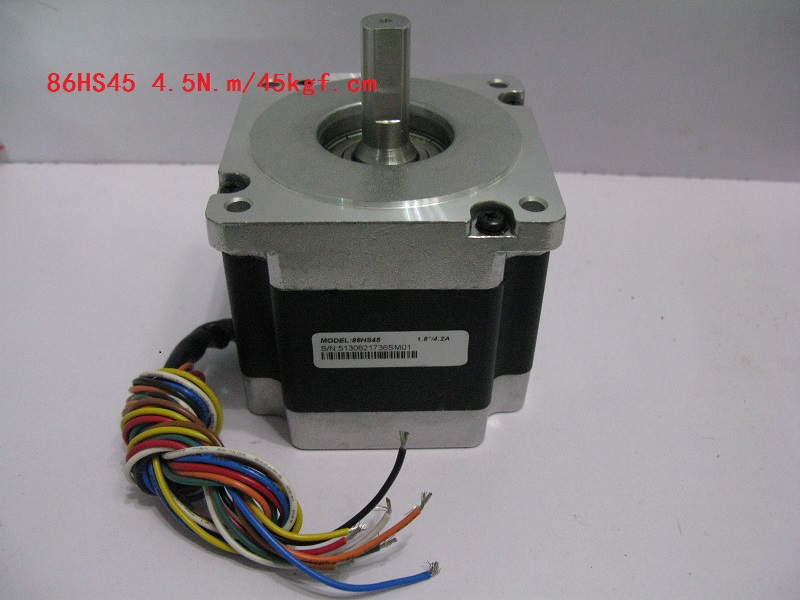 Leadshine 2-phase hybrid stepper motor 86HS45 NEMA 34 have 8 motor leads /Current /phase 6A /Holding Torque 4.5N CNC motor 2 phase stepper motor and drive m542 86hs45 4 5n m new