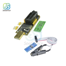 купить CH341A 24 25 Series EEPROM Flash BIOS USB Programmer Module + SOIC8 SOP8 Test Clip For EEPROM 93CXX / 25CXX / 24CXX по цене 311.33 рублей