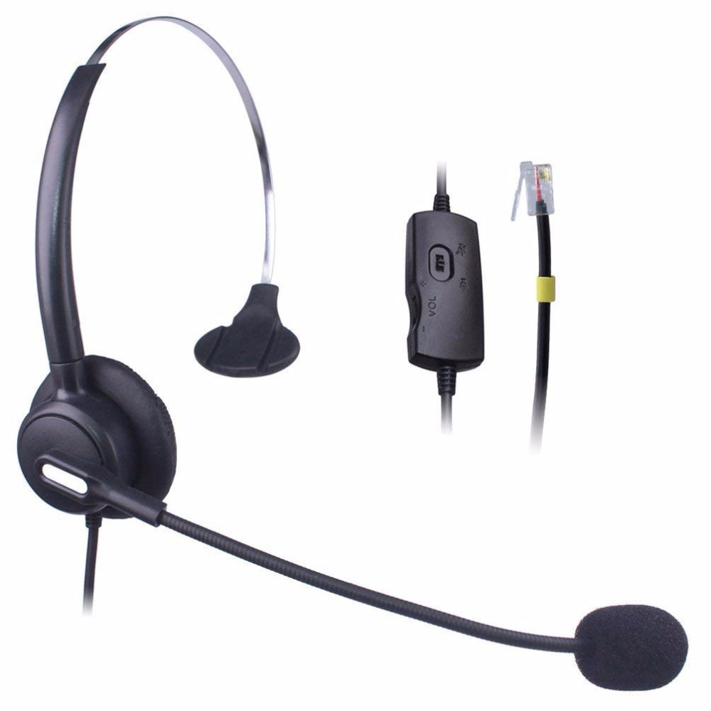 Wantek Hands Free Telephone Headset Mono With Volume Mute Control Noise Cancelling Mic Call Center Phone Headsets Rj9 Rj11 Jack Headphone Headset Aliexpress
