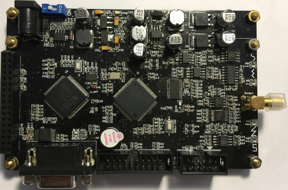 DDS Signal Generator ARM&FPGA Development Board ACTEL STM32 Provides Source QT Host Computer.
