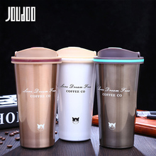 JOUDOO 500ML Stainless Steel Thermos Cups Vacuum Flasks Thermo Bottle Thermol Thermocup Travel Coffee Mugs 35
