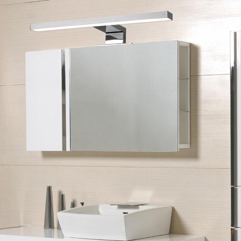 Fensalir AC110V/220 v salle de bains appareil de toilette maquillage Appliques Murales Simple Mode 5 w Led Mur Lampe 30 cm miroir Led Lumière ML002-300P