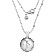 FANDOLA Jewelry Real 925 Sterling SilverMoon and Stars Necklace Fashion Necklaces for Women DIY Charms Jewelry Winter Newest