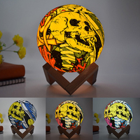 3D Moon Lamp LED Night Light colorful skull cranial table light touch remote control home bedroom special decoration lighting