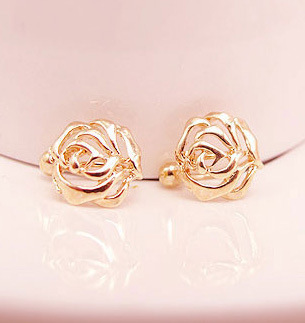 Hearty New Special Korean Delicate Rose Small U-shaped Painless Non-pierced Earrings Fake Earrings Ear Clip,no Ear Hole Earring Lustrous Surface