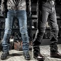 Superfit d-jeans moto kevlar resistencia delgado denim jeans pantalones rally moto pantalones negro azul de los hombres jeans de moda