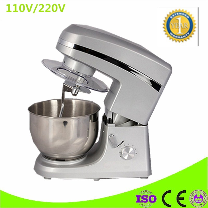 Multi-functional Dough Mixing Machine Electric Dough Mixer Small Automatic Food Mixers Egg Beater 5L Commercial Chef Machine stainless steel dough mixing machine home automatic kneading machine small commercial electric mixer 2 kg capacity dough mixer