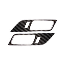 цена на 2 IN 1 Carbon Fiber Car Interior Door Handle Stickers Covers Decorative Stickers for Ford Mustang Car Sticker-Styling 2015-2017