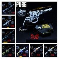 Game PUBG Playerunknown's Battlegrounds New M762 UMP9 Snow Leopard R1895 M249 Cosplay Props Gun Keychain Toy 6Pcs/Set Wholesale