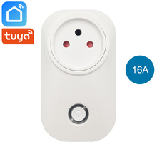 Tuya Smart Life Wifi Plug Socket Israel Outlet 16A Power Meter Energy Saver Compatible with Alexa Google Home Mini IFTTT