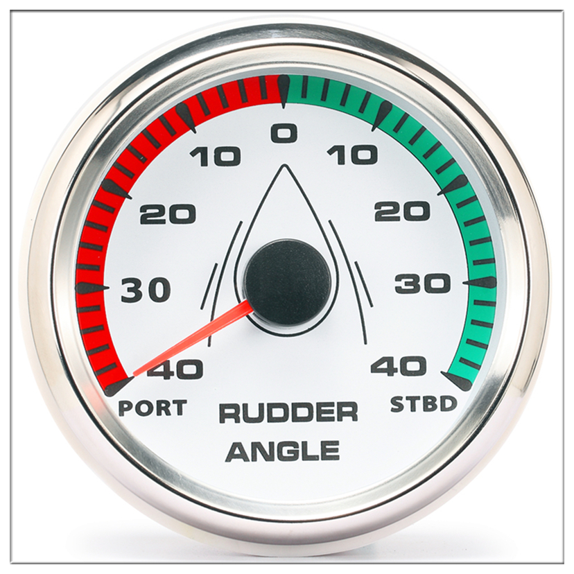85mm Boat Rudder Angle Indicator Gauge Meter 0-190ohm With Mating Sensor 9-32V With Backlight