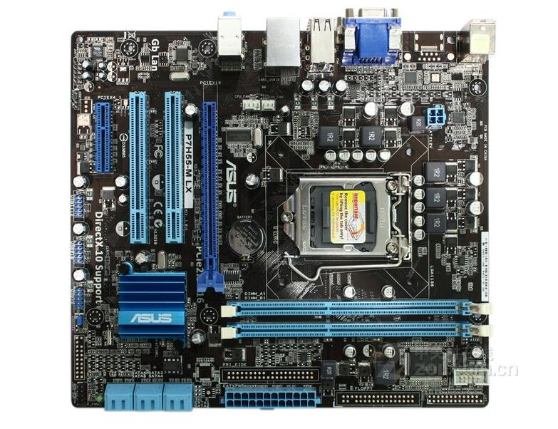 цена original motherboard for P7H55-M LX LGA 1156 DDR3 board for I3 I5 I7 mainboard 8GB H55 Desktop motherboard Free shipping