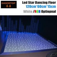 Дизайн в Великобритании 120 см x 60 см светодио дный танцевальная площадка CE Rohs Танцы пол сценический свет белый Звезда сверкающих Беспроводно