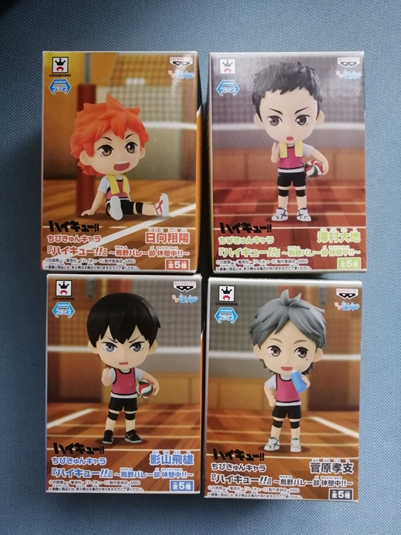 2019 New Arrival  Original High Quality Japanese Anime Figure Haikyuu Box Q Version Action Figure Kids Toys For Girls