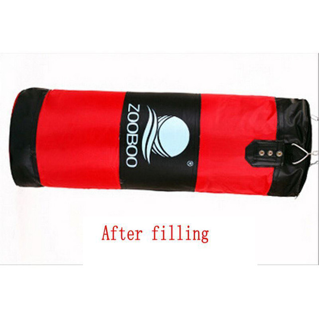 90cm Training MMA Boxing Bag Hook Hanging Kick Muay Thai Sanda Punching Bag Sandbag (Empty)