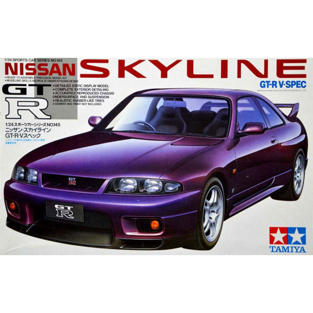OHS Tamiya 24145 1/24 Skyline GTR V Spec Scale Assembly Car Model Building Kits G ohs tamiya 24282 1 24 nismo skyline gtr r34 z tune car model building kits oh