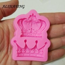 1Pcs Crowns Princess Queen 3D Silicone Mold Fondant Cake Decorating Tools chocolate Kitchen baking accessories D0761