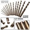 15PCS 1 5 10mm Twist Drill Bits Set M35 Cobalt HSS Straight Shank Ferramentas Metal Drilling