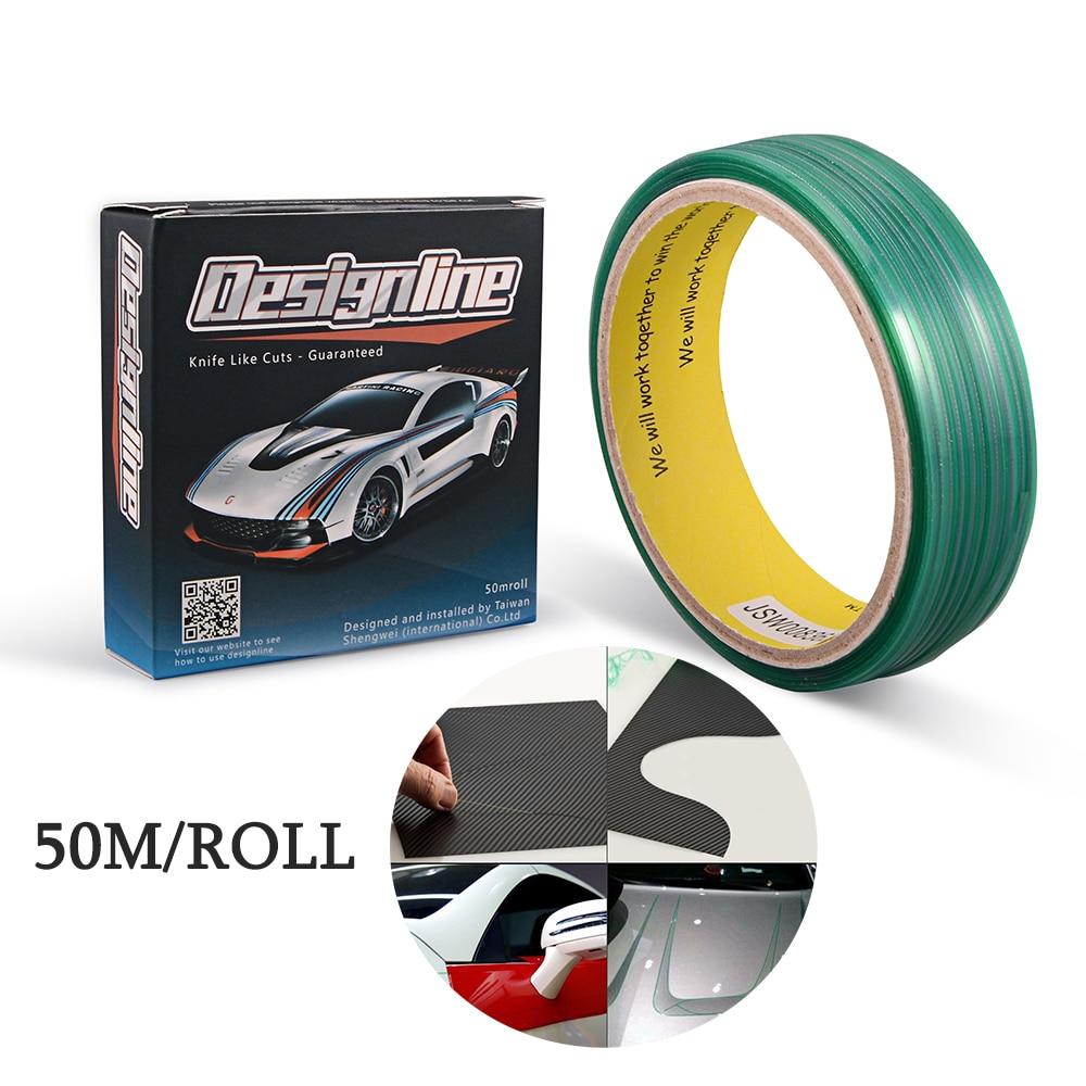 EHDIS 50M Vehicle Knifeless Tape Design Line Vinyl Foil Film Graphic Cutting Decoration Tape Car Wrapping