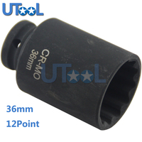 12Point 36MM Spindle Axle Nut Socket Hub Axle Nuts Removing Installing Tool For BMW VW AUDI