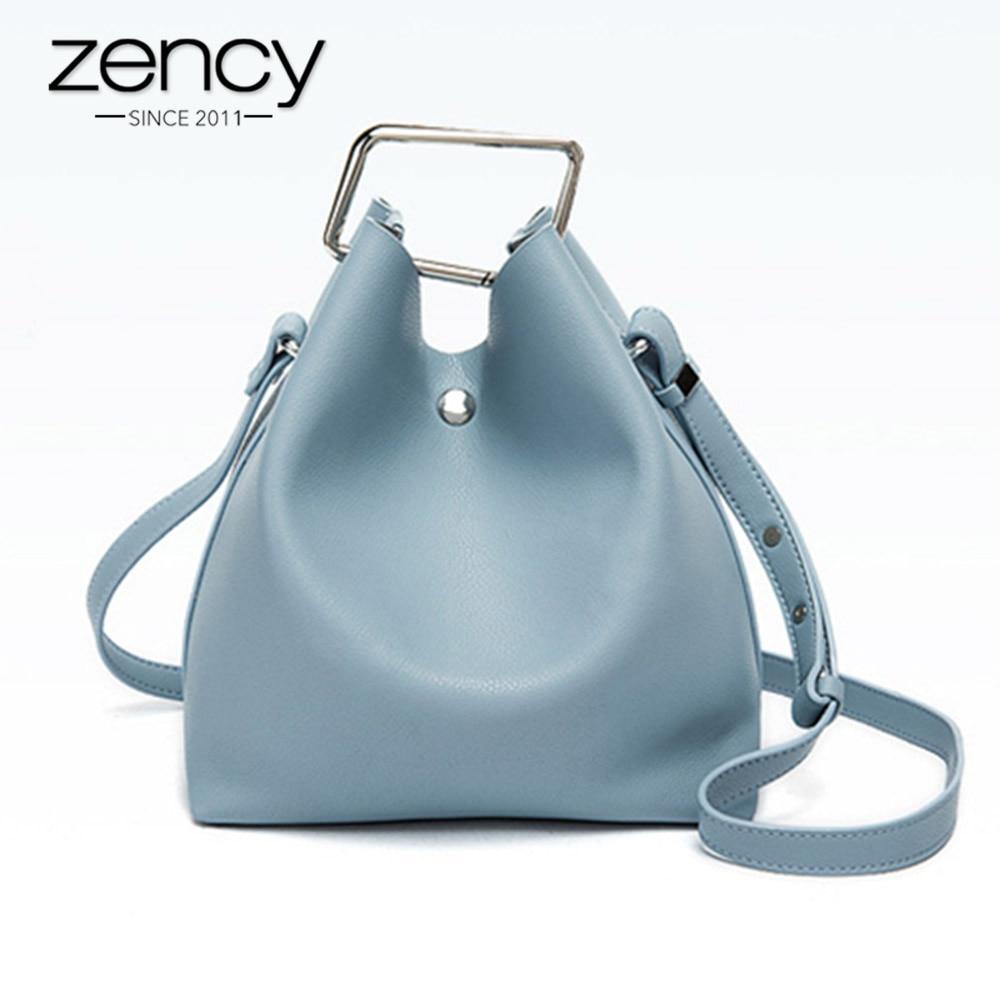 Zency 100 Genuine Leather Lady Casual Tote Elegant Handbag Fashion Women Shoulder Bag Messenger Crossbody Purse