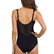 2018 Sexy One Piece Swimsuit Women Hollow Out Swimwear Padded Backless Bodysuits Striped Jumpsuit Monokini Bathing Suit