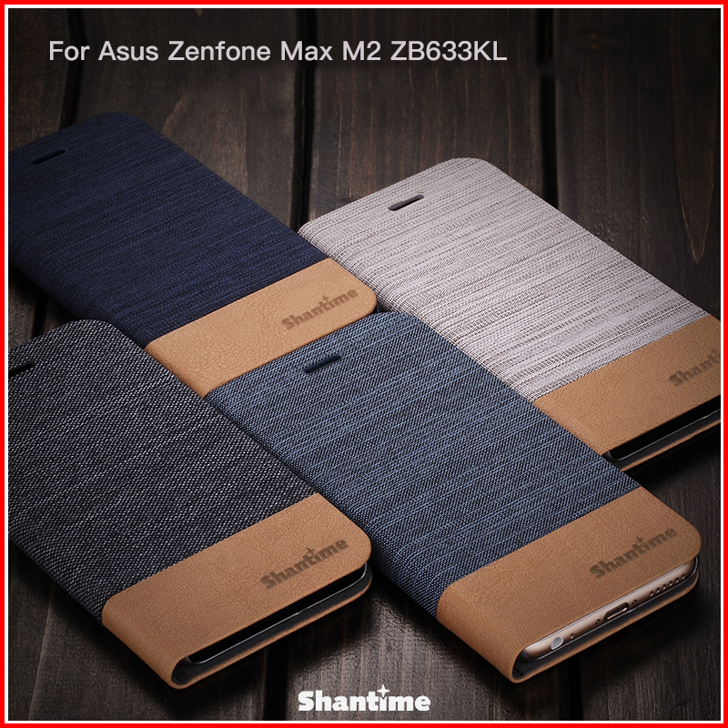 PU Leather Case For Asus Zenfone Max M2 ZB633KL Flip Case For Asus Zenfone Max M2 ZB633KL Business Case Soft Silicone Back Cover