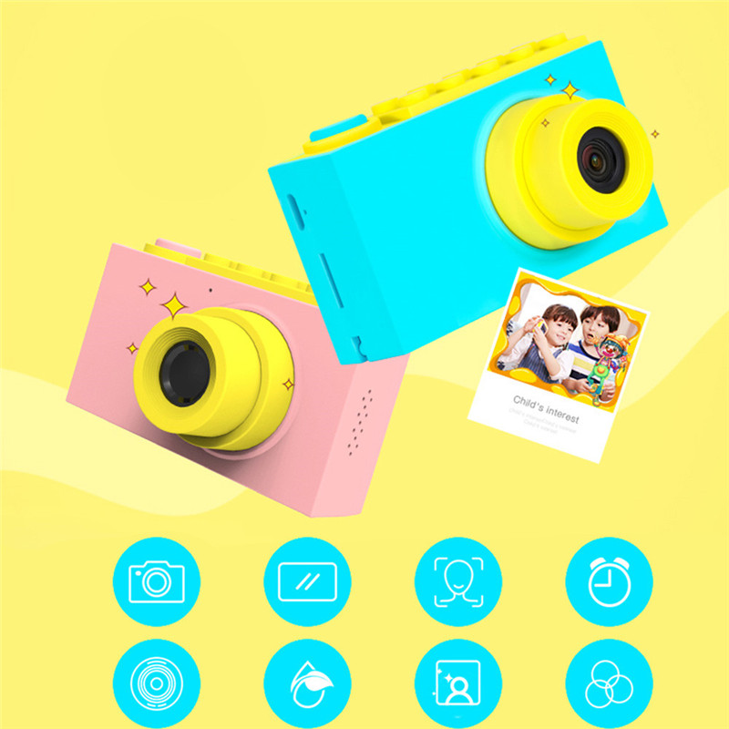 Toys Camera Birthday-Gift 2inch Mini Cartoon Children Cute 1080P Toddler