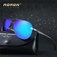 Aoron Tech Semi Rimless Aviator Sunglasses Silver Mirrored Clear Visibility Polarized Lens Men S Cool Driving