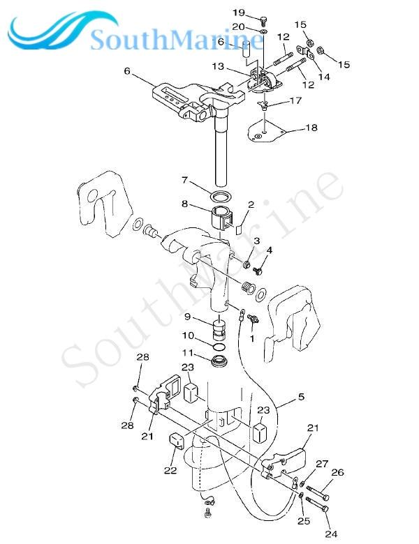 Boat Motor 63v 45114 A1 Upper Casing Gasket For Yamaha 2 Stroke 9 9